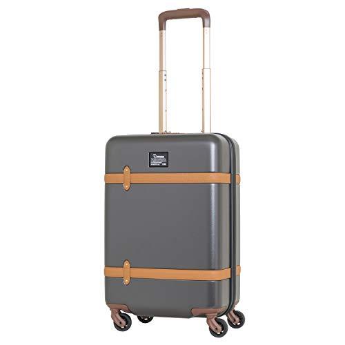 moz(モズ) スーツケース 35L(機内持ち込み可) MZ-0822-50 (ダークグレー×ブラック)