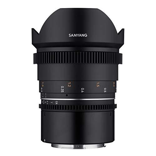 Samyang MF 14mm T3,1 VDSLR MK2 Canon RF – lichtstarkes T3,1 Ultraweitwinkel Cine- und Video Objektiv für Canon RF Mount, 14 mm Festbrennweite, Follow Focus Zahnkränze Vollformat und APS-C 8K Auflösung