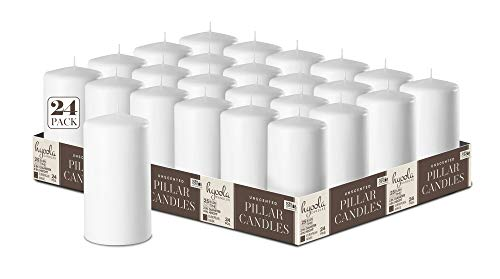 Hyoola White Pillar Candles 2-inch x 4-inch - 24 Pack Unscented Bulk Pillar Candles - European Made - http://coolthings.us
