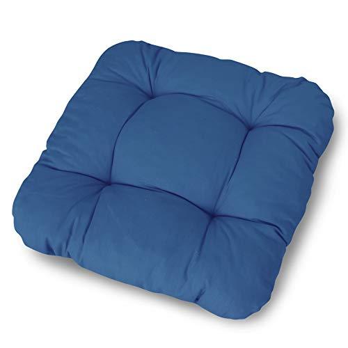 LILENO HOME - Cojín para silla (38 x 38 x 8 cm), azul oscuro, 4 unidades