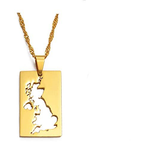 Reino Unido de Gran Bretaña e Irlanda del Norte Mapa Colgante y Collares Para Mujeres Reino Unido Country Maps # 021421