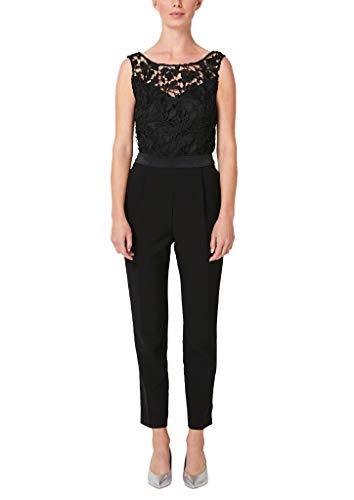 s.Oliver BLACK LABEL Damen 70.909.85.5650 Jumpsuit, Schwarz (Forever Black 9999), (Herstellergröße: 40)