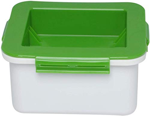 Poweka Prensa de Tofu - Prensa de Queso de Soja de Plástico para Presionar el Agua del Tofu (Verde)