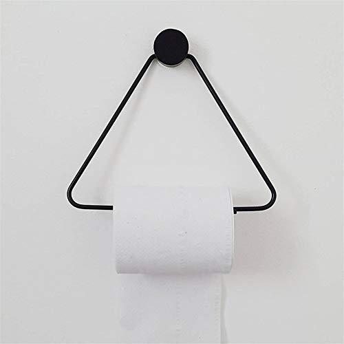 Papel higiénico titular Triángulo del rollo de tejido de almacenamiento en rack estante de madera de cobre Combinación toalla de cocina en rack de almacenamiento de papel higiénico (Color : BLACK)