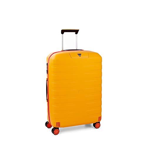 Roncato Box Young Maleta Mediana Naranja/Amarillo, Medida: 69 x 46 x 26 cm, Capacidad: 80 l, Pesas: 3.10 kg