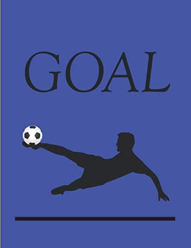 GAOL: Taccuino per allenatori da 100 pagine con disegno del campo di calcio per la creazione di esercizi - blocco note - taccuino - diario di bordo - perfetto come regalo per gli allenatori di calcio