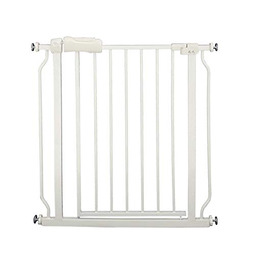 Fairy Baby Narrow Baby Gate for Stairs Walk Through Easy Auto Close White Child Pets Safety Gate,Fits Spaces Between 29' and 33.8' Wide,White