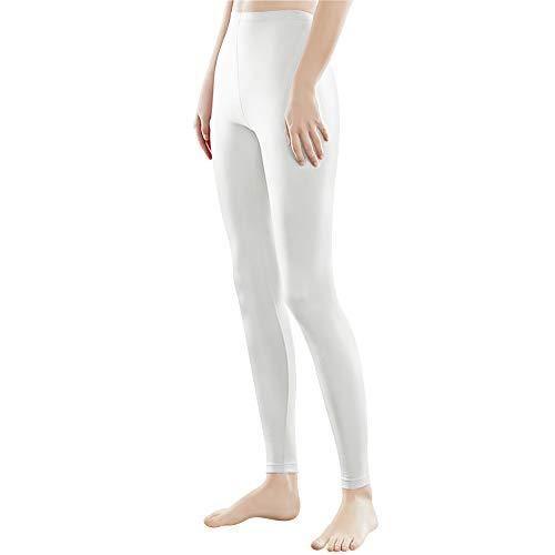 Libella Mujer Leggins Largos Deportivas Multicolor con Cintura de Altura Ajustado Hecho de algodón 4108 Blanco XL
