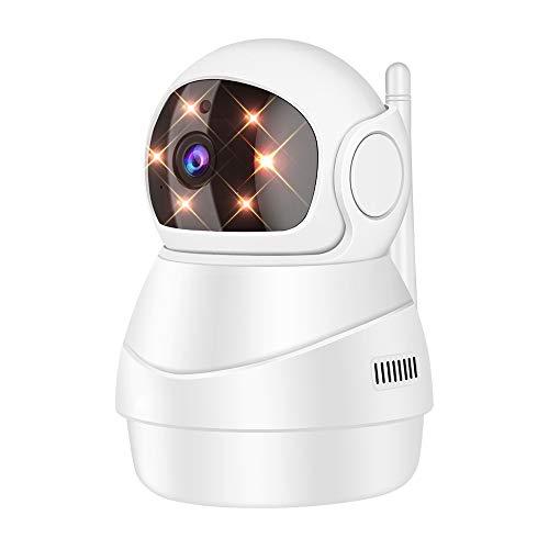 【Amazon.co.jp 限定】アボシ ネットワークカメラ1080P 200万画素 ベビーモニター IP監視防犯カメラ 高解像度 無線ワイヤレス屋内カメラ 【wifi 強化 遠隔スマホ操作 動体検知 警報通知 双方向音声 暗視機能 録画可能 技適認証済み ホワイト AB-