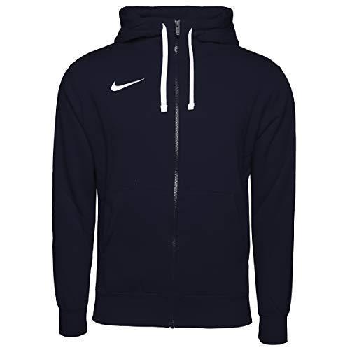 Nike Mens M NK FLC PARK20 FZ Hoodie Sweatshirt, Obsidian/White/White, M
