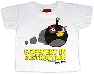 Angry Birds Officially Licensed Eggspert in Destruction White Kids T-Shirt