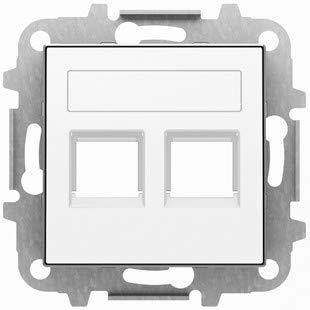 Niessen sky - Tapa 2 conector con persiana blanco