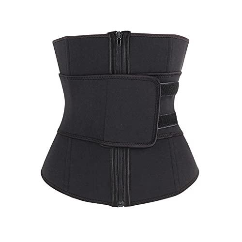 QOXEFPJZ fajas reductoras adelgazantes Proporcionar la protección de la cintura de la cintura del tipo de cremallera de neopreno y cinturón de abdomen, deportes de mujer sudorando plástico top