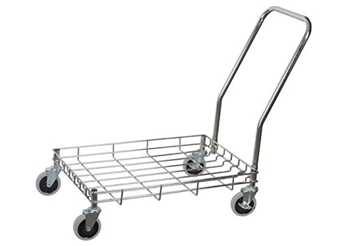 Winco DWR-2617, 27'' х 18'' Stainless Steel Wire Dough Box Dolly, Cart Food Storage