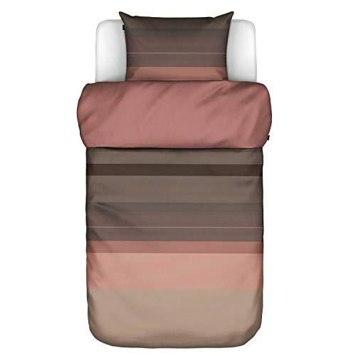 Marc O Polo Biancheria da letto in raso makò Kiya Warm Earth 1 copripiumino 155 x 220 cm + 1 federa 80 x 80 cm