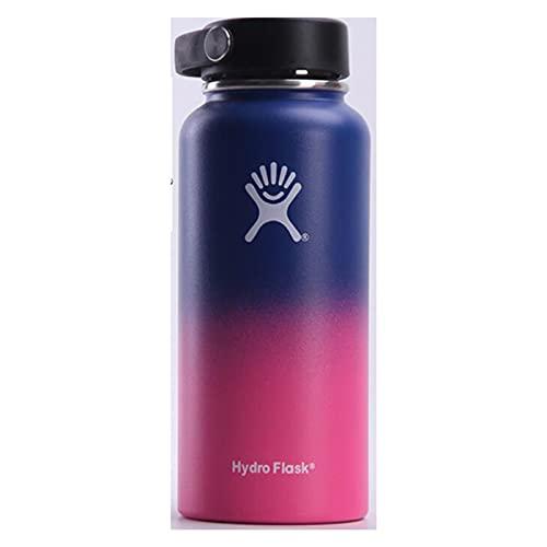 UKKD Water bottle Thermos Bottle 18 Oz / 32 Oz / 40 Oz Vacuum Bottle Thermos Stainless Steel Kettle Wide-32Oz,Az080