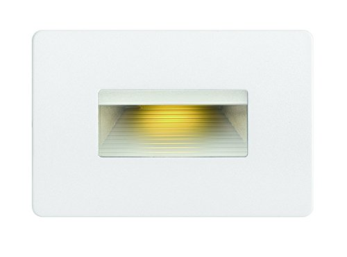 Hinkley Landscape Lighting LED Luna Step Light - Add Safety and Security Indoors and Outdoors, ADA Compliant and Energy Efficient Small Step Light, Satin White Finish, 58508SW