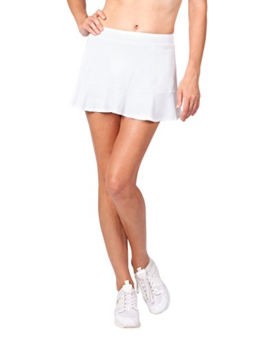 Tail Activewear Women's Jennifer 12.5' Length Flounce Skort Large White