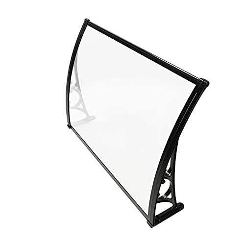 QYQPB Marquesina para Aluminio, Toldo Transparente Y Silencioso, Protector de Lluvia para Ventanas con Aire Acondicionado, Tablero de Resistencia para PC de Balcón (Size : 100 * 80cm)