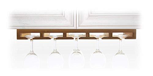 Woodquail Supporto Bicchiere Vino, Portabicchieri, Porta Calici Vino da Vino per Cucina, Bar o Ristorante, Scolabicchieri, Realizzato in bambù