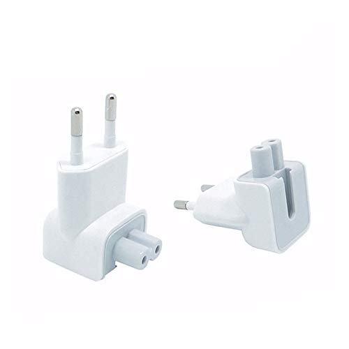VizGiz 2 Pack US to Europe Plug Converter Travel Charger Adapter Wall Outlet EU European Connector Duck Head for MacBook Mac Pro MBA Retina MagSafe Apple Phone Pad Tablet Mini Air Power Brick