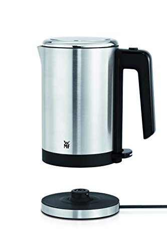 WMF Kitchenminis Hervidor de agua eléctrico, 0.8 litros, 1800 W, acero inoxidable cromargan