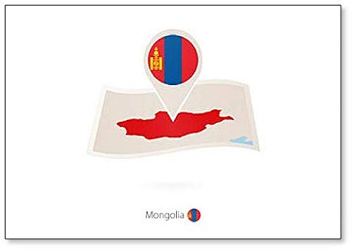 Kühlschrankmagnet Mongolei mit Flagge der Mongolei