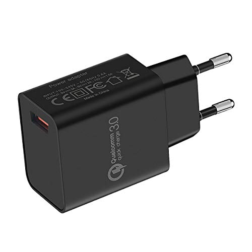 UNIDOPRO Quick Charge 3.0 Cargador de pared para iPhone 12 Pro 11 X XR XS Max | Galaxy S21 S20 FE Note 20 Ultra 10 Lite | Redmi Note 10 9T 9S 9 8 Pro POCO X3 NFC | Moto G9 G8 etc.