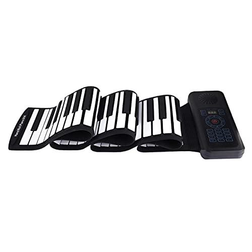 Roll Up Piano, Tastiera portatile pieghevole, 88 tasti, Tastiera elettronica, Batteria Li-on incorporata, Set regalo di giocattoli, Piano digitale per principianti, Pianoforte arrotolabile, Regali mus