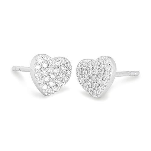 NANA KAY Sweet Glam ST1597 - Pendientes con forma de corazón con circonitas