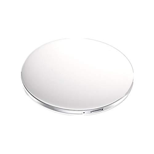 WanuigH LED-Make-up-Spiegel Make-up-Spiegel 1X und 3X Vanity LED-Make-up-Spiegel mit Beleuchtung Double Side Spiegel USB-Energien-beweglichem Spiegel Kosmetikspiegel (Farbe : Weiß, Größe : 7.5cm)