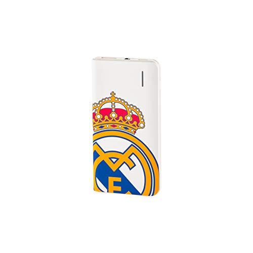 Real Madrid Batería Externa 4000 mAh - con el Escudo Oficial, Compacta y Conexión Micro USB