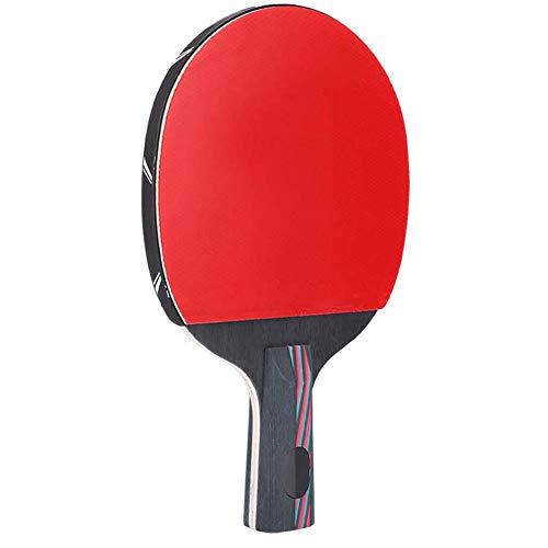 Jeankak Raqueta de Tenis de Mesa, Bate de Tenis de Mesa práctico y Ligero, Bate de Ping-Pong, Raqueta de Ping-Pong, para Equipamiento Deportivo Accesorios Deportivos(Penhold Shot)