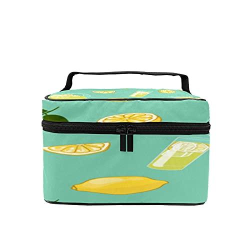 Bolsa de maquillaje de viaje grande bolsa de cosméticos colorido verano bebida maquillaje caso organizador con bolsa de malla para mujeres niñas