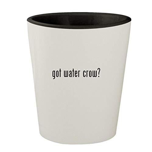 got water crow? - White Outer & Black Inner Ceramic 1.5oz Shot Glass