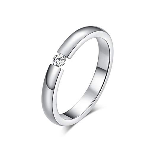 KR hongda Ringen Engagement Ring Dames Roestvrij Staal Zilver Goud Gekleurde Vinger Meisje Gift 8 Zilver Kleur