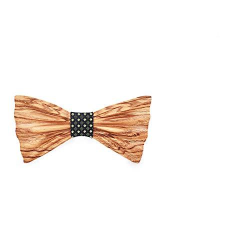 DYDONGWL Halsbanden, 3D Design Mens Pocket Vierkante Bow Tie Set Houten Tie s Strikjes Bruiloft Zakelijke Pak Houten Bow Ties Hankies