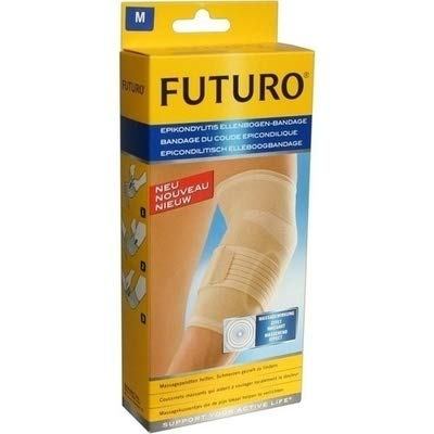 FUTURO FUT47862 Classic Ellenbogen-Bandage, beidseitig tragbar, Größe M, 24,5 - 27,0 cm by Futuro