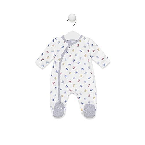 TOUS BABY - Pelele de Manga Larga con Estampado HBear para tu Bebé. Color Blanco.(1 a 18 Meses) (3-6 meses)