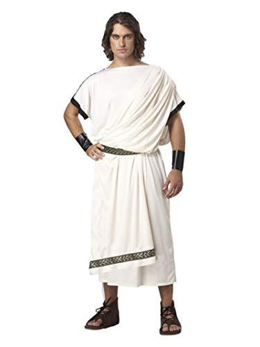 California Costumes Herren Men's Deluxe Classic TOGA Kostüm für Erwachsene, weiß, Einheitsgröße
