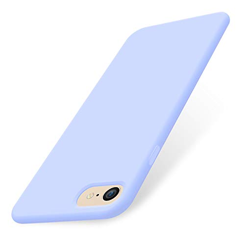 AOWIN iPhone 8 Case Silicone iPhone SE 2020 Case Cover for iPhone 7 Soft Microfiber Lining Hard Shell Compatible with iPhone 7/8/SE 2020- Light Blue