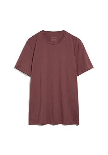 ARMEDANGELS JAAMES - Herren T-Shirt aus Bio-Baumwolle L Sable Red Shirts T-Shirt Rundhals Regular fit
