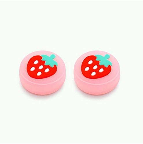 Luminous Thumb Stick Grips Caps Analog Thumb Grips Caps Joystick Covers for Nintend Switch Lite for NS Joy-Con Controlle (Strawberry -Orange)