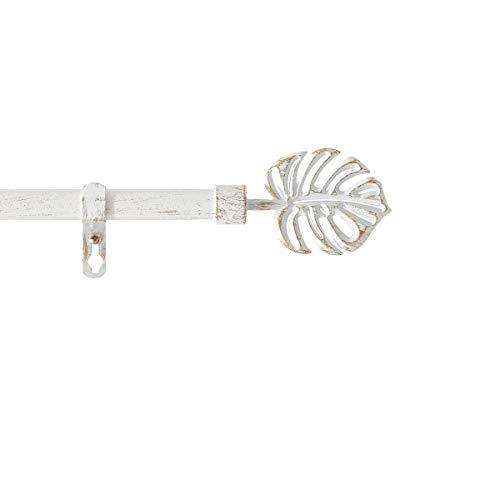 marque Douceur d'intérieur Kit Tringle Extensible 120 à 210 cm Patine Tropi Blanc/Or