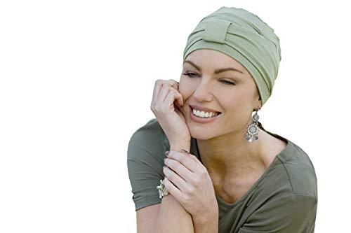 MASUMI Ellie - kopftücher Chemo - Damen Mütze für Chemotherapie, Krebspatienten und Frauen mit Haarausfall (Grün)