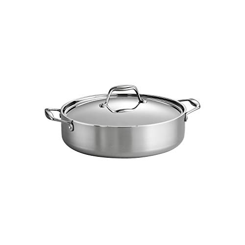 Tramontina 6 QT Covered Braiser - Tri-Ply Clad SS - SEA - Gourmet