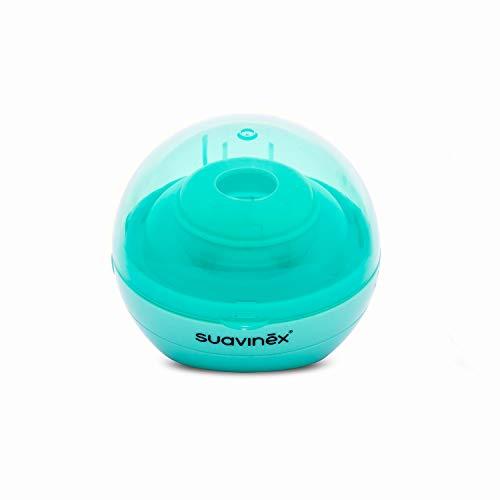 Suavinex - Esterilizador de chupetes portátil de luz Ultravioleta Uv. Esteriliza en 3 Minutos. con USB o con Pilas. elimina el 99% de los Gérmenes. color Verde