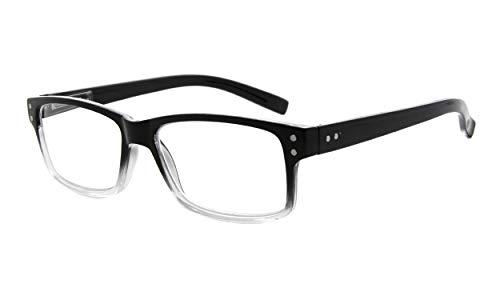 Eyekepper Spring Hinges Vintage Reading Glasses Men Readers Black-Clear Frame