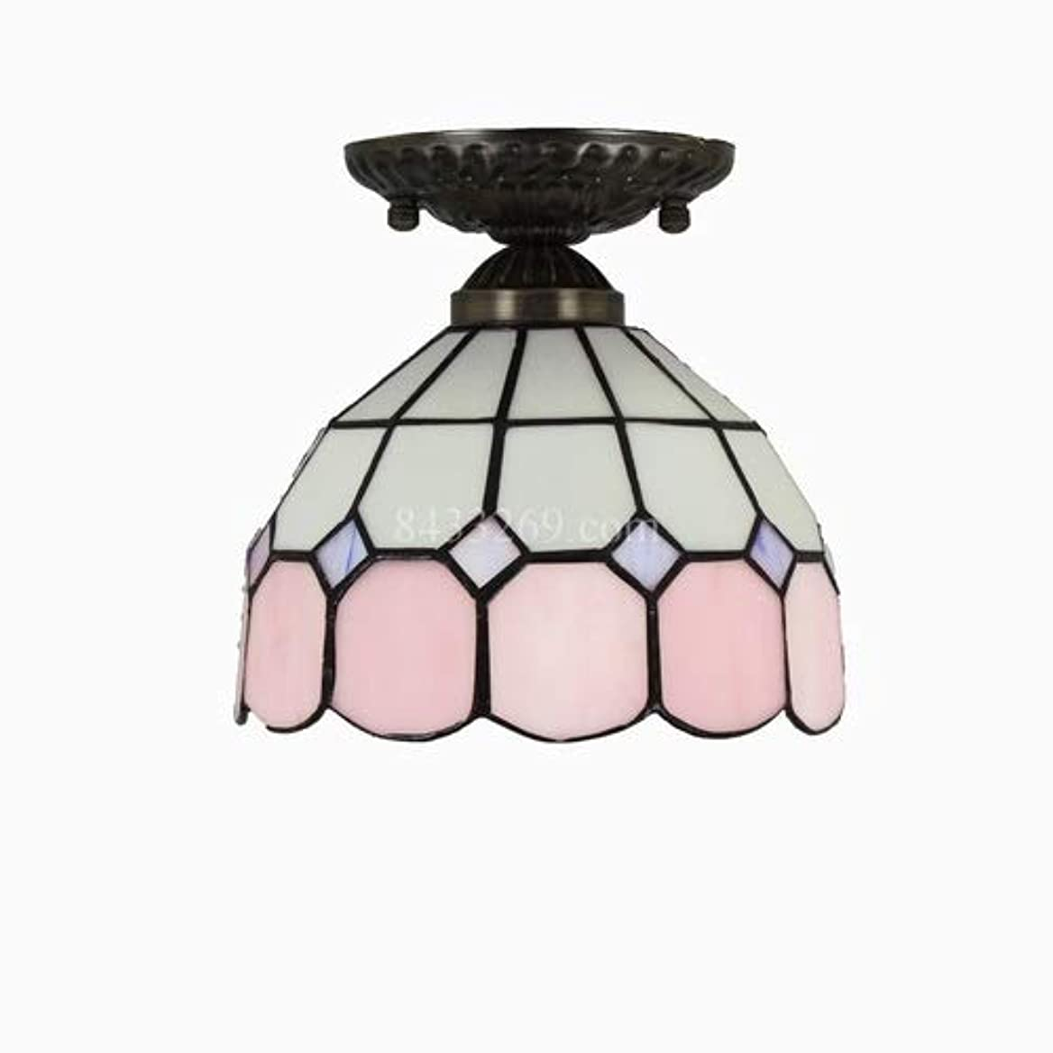 虹大量透ける手作りの天井ランプ、家の装飾のためのガラスステンドグラスの天井灯廊下8インチの下で照明