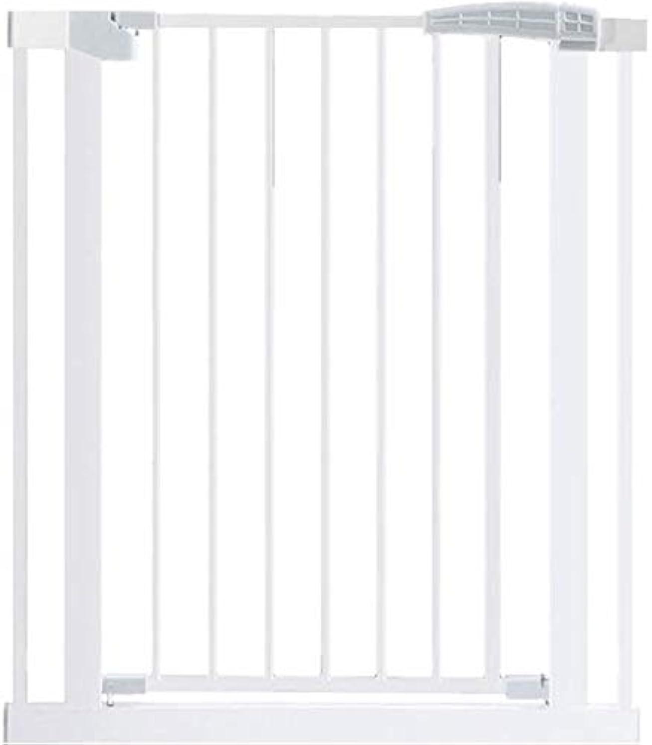 気取らない怠けた編集者ベビーゲート フェンス ドア付き 圧力フィット安全メタルゲートは、幅が利用可能な拡張機能でペットゲートベビーゲートを200センチメートル75から選択することができる80センチメートル長身 (Color : White, Size : 158-1...